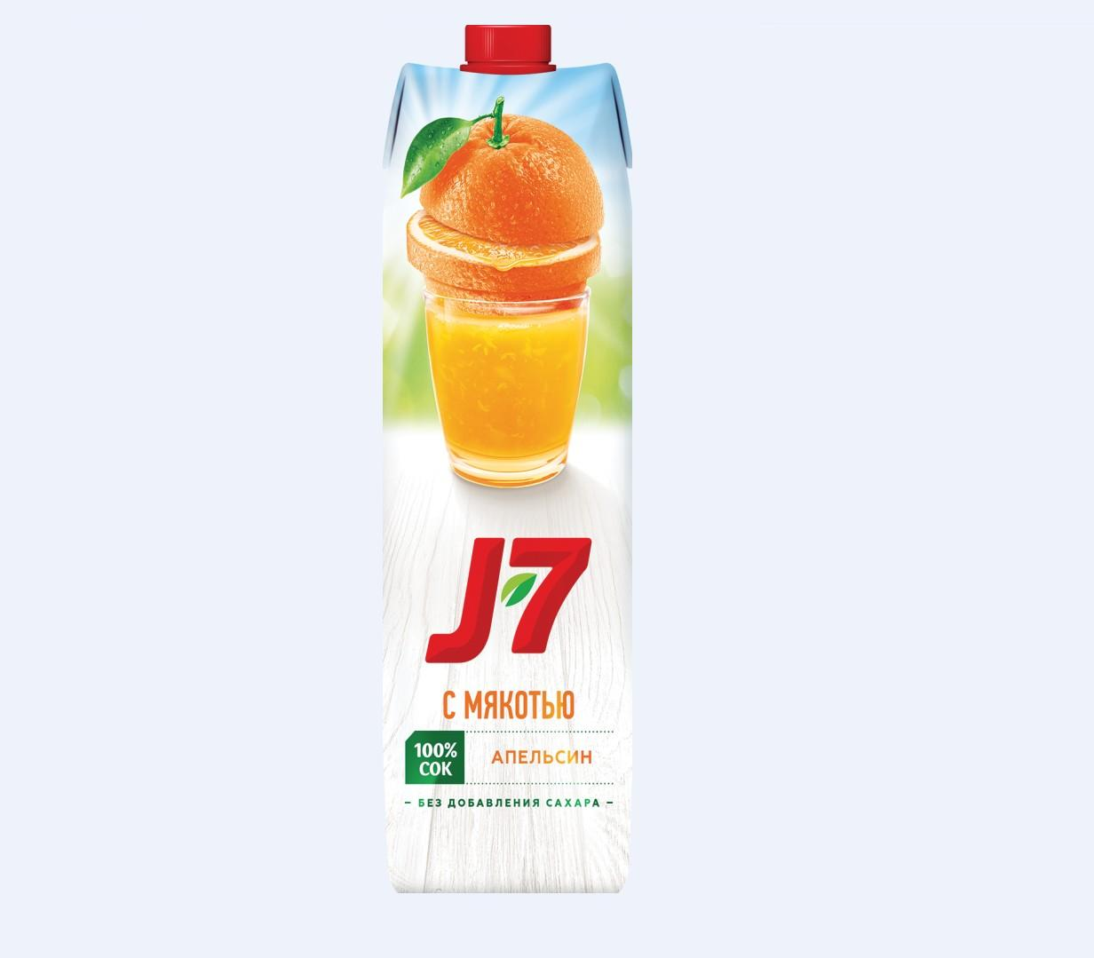 Нектар J7 0,97л.  -Апельсин с мякотью