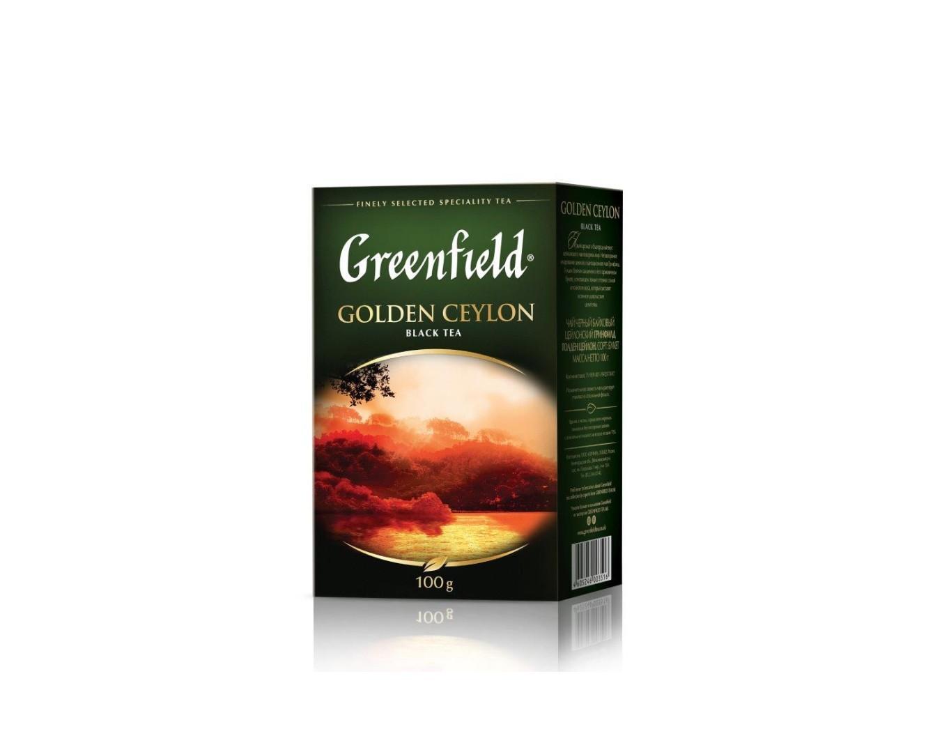 Чай Гринфилд Голден Цейлон 100гр. Черн.лист.