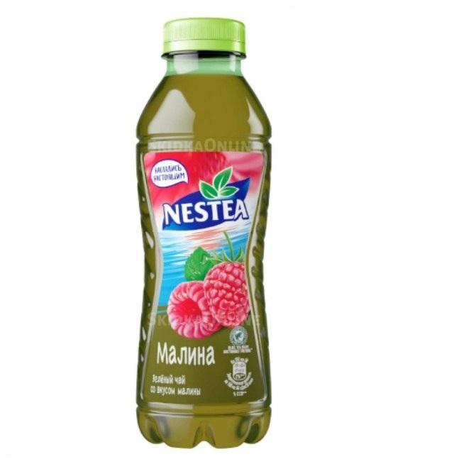 Напиток холодный чай Нести 1,5л пл/б   — зеленый, малина