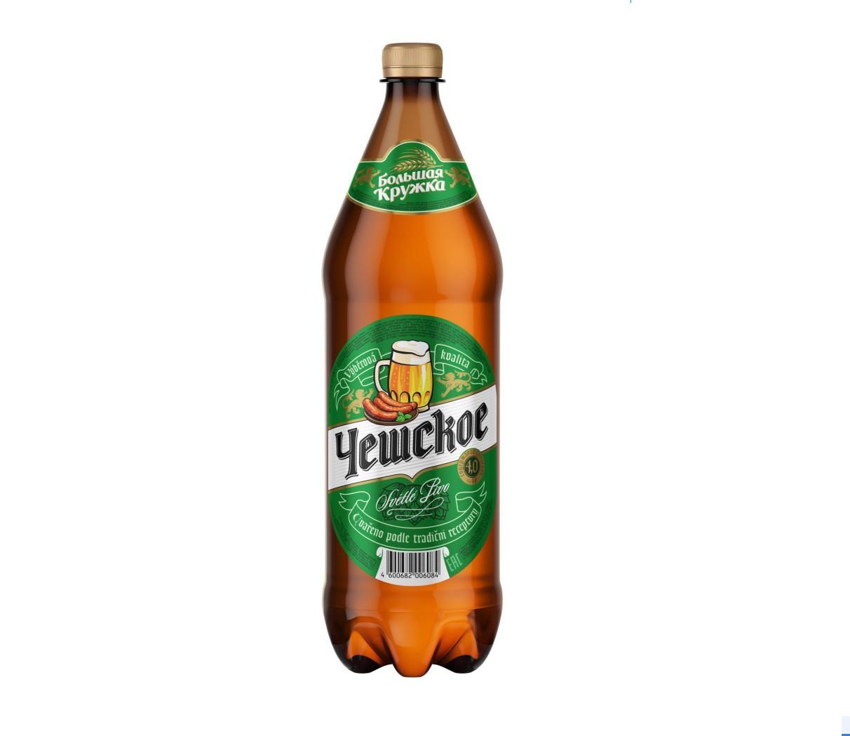Пиво Чешское «Большая кружка», 1,3 л.