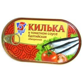 Килька 5М обжаренная в т/с 175г.ж/б