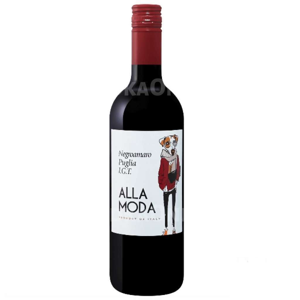 Вино Алла Мода Негроамаро Апулия кр/сух 0,75л