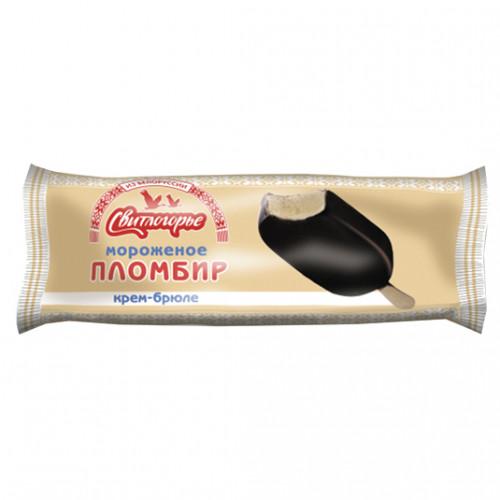 Мороженое « Свитлогорье» пломбир  Эскимо 80гр.- крем-брюле