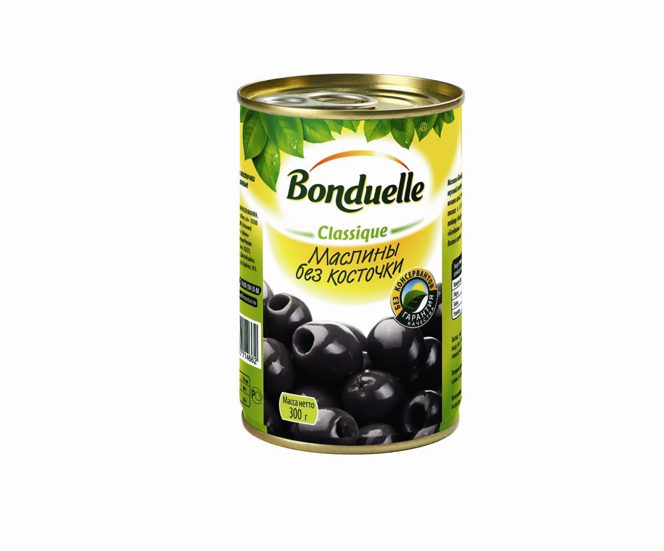 Маслины Бондюэль, без косточки,300гр.