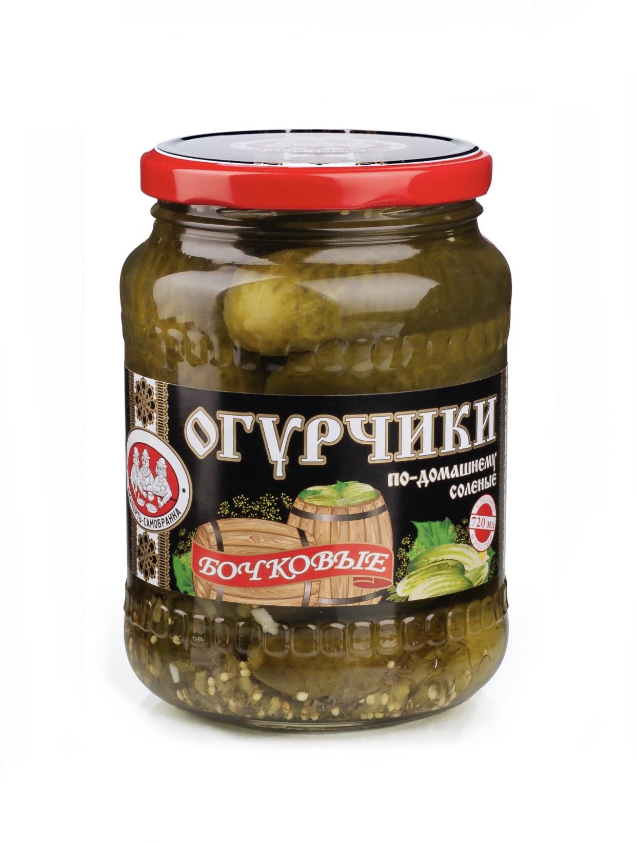 Огурцы Скатерть Самобранка По-домашнему Бочковые 720мл