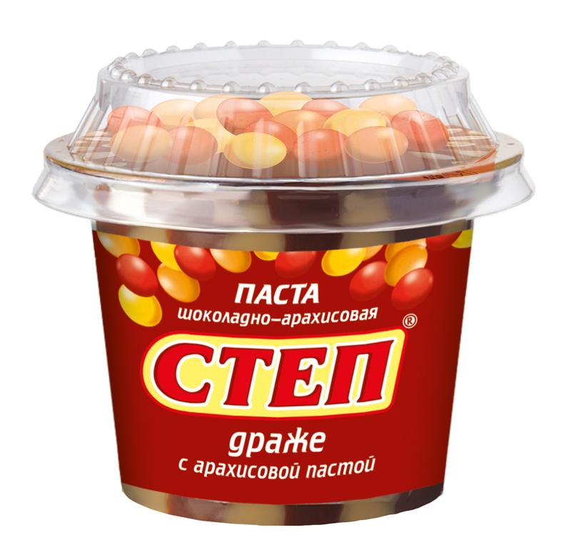 Паста Золотой степ 200г. пл/б Шоколадно-арахисовая