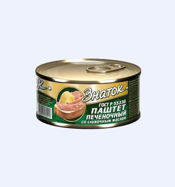 Паштет «Знаток»  230г ж/б  -Печеночный со сливочным маслом
