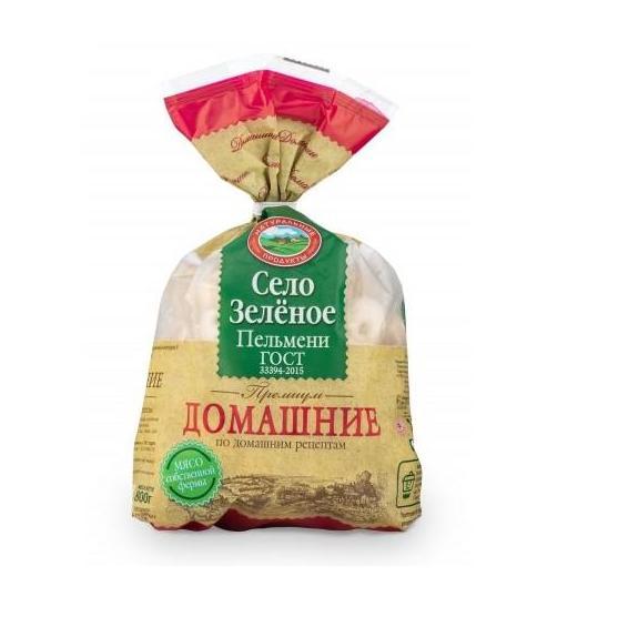 Пельмени Село зеленое  «Домашние» 800г.