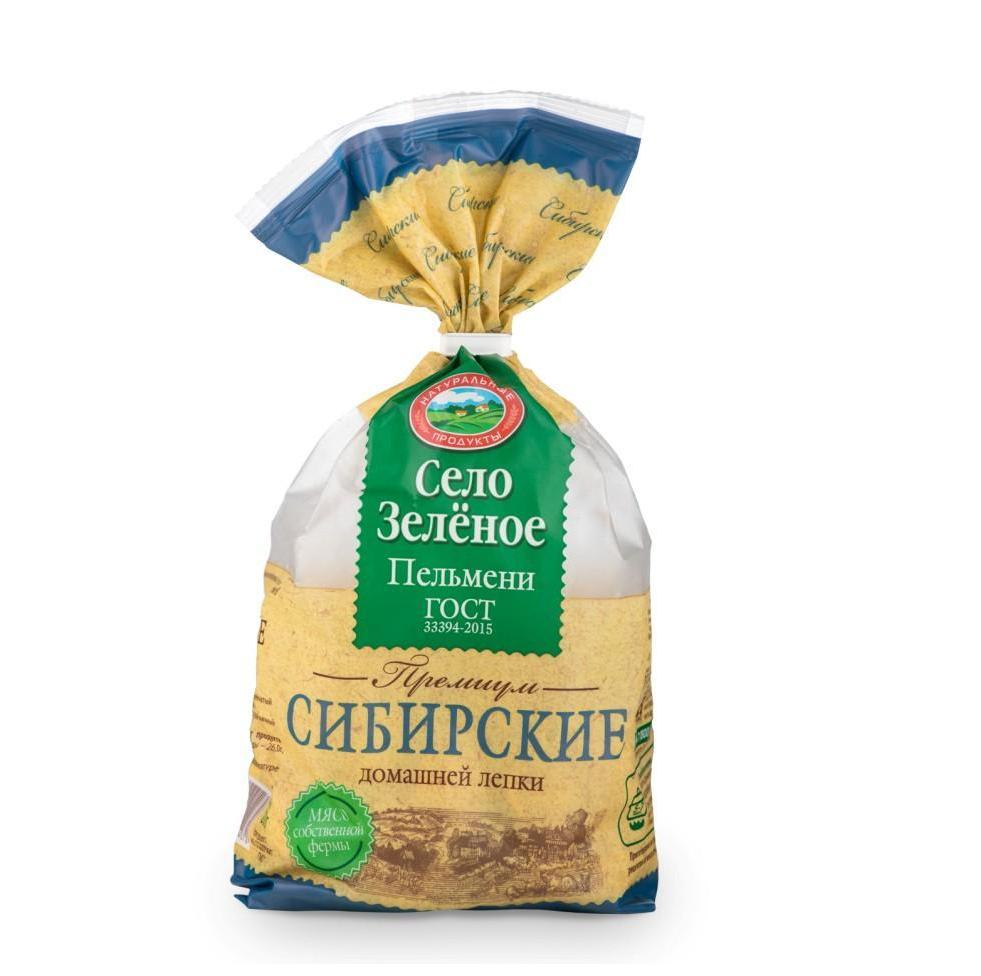 Пельмени Село зеленое «Сибирские»  800г.