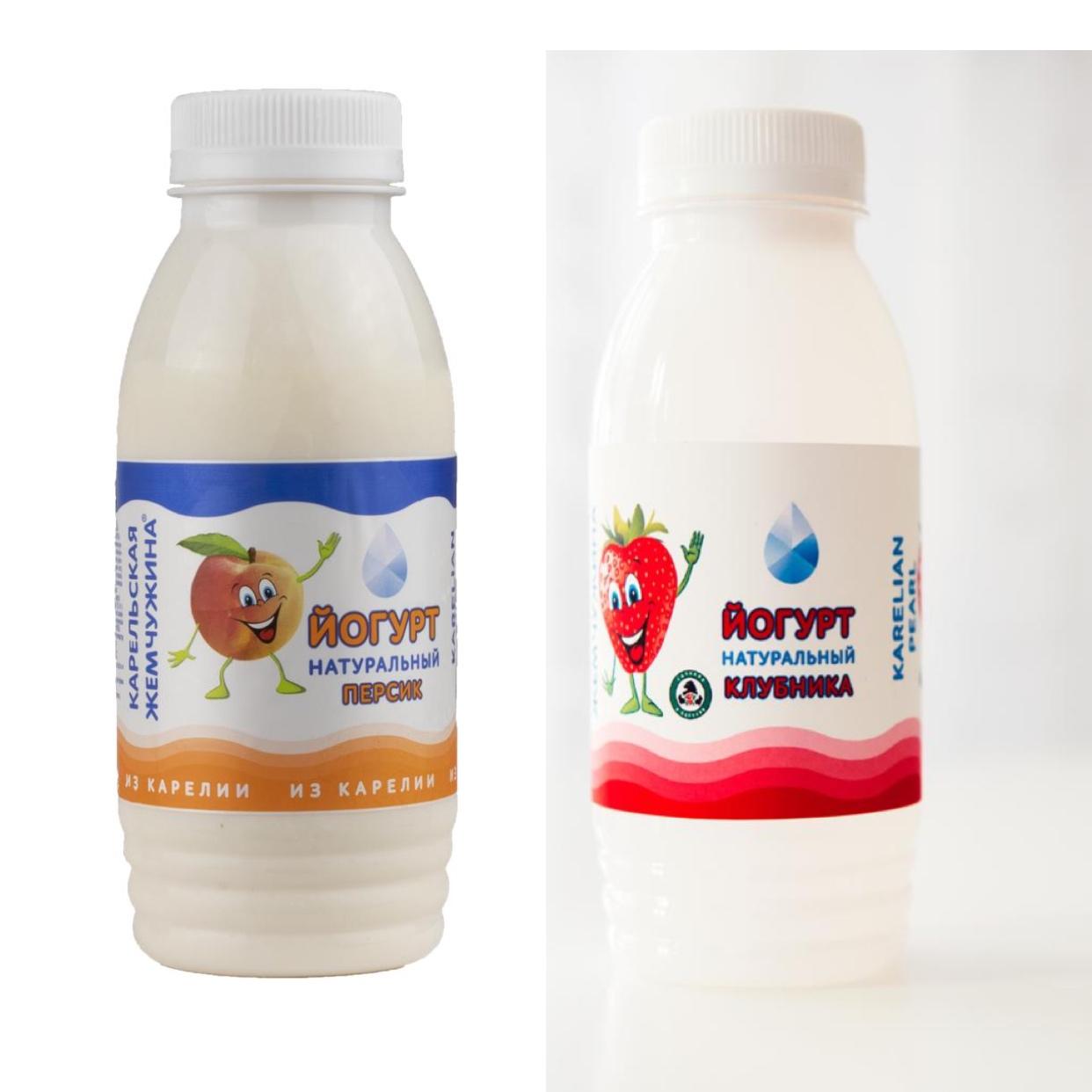 Йогурт фруктовый 2,1% 290 г.   -«Персик»   -«Клубника»