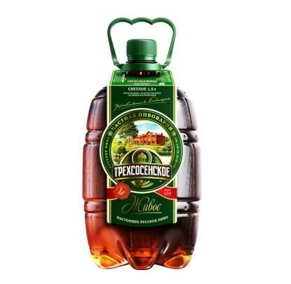 Пиво «Трехсосенское» светлое 1,5 л
