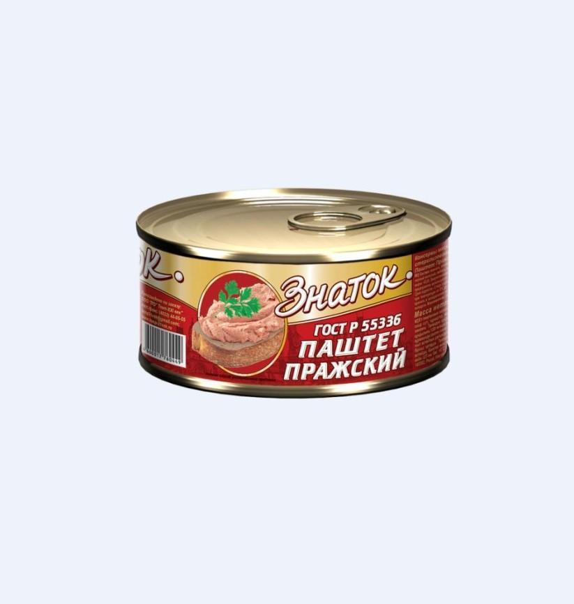 Паштет «Знаток»  230г ж/б -Пражский