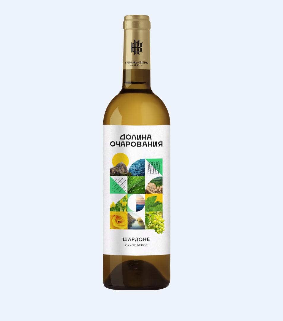 Вино столовое Долина Очарования 0,7л белое сух. «Шардоне»