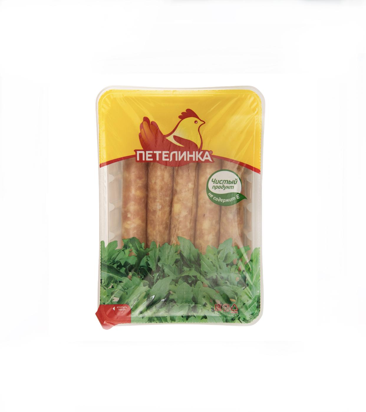 Колбаски «Петелинка» для гриля с сыром 350гр. Новинка