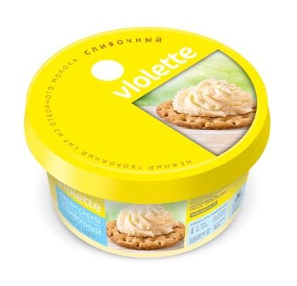 Творожный сыр «Виолетта» п/кор 140г. — сливочный