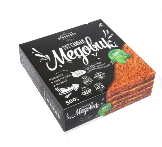 Торт слоеный «Медовик» 500г