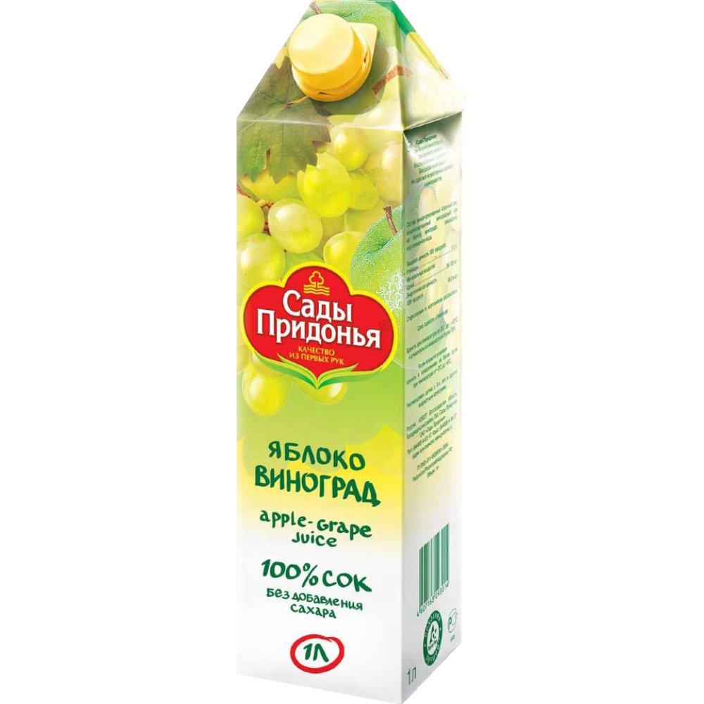 Сок «Сады Придонья» 1л  -яблоко-виноград