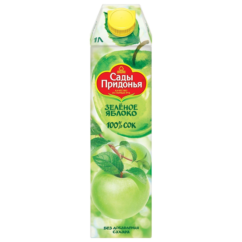 Сок «Сады Придонья» 1л — зеленое яблоко